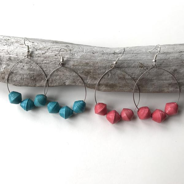 Summer Earrings - Pomegranate or Teal