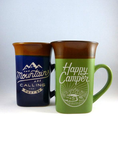 Mug - Happy Camper, 2-Tone