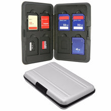 Silver Micro SD Card Holder SDXC Storage Holder Memory Card Case Protector Aluminum 16 slots for SD/ SDHC/ SDXC/Micro SD card - Drone_Holic