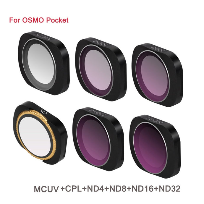 6Pcs Magnetic Filter Set  ForOSMO Pocket