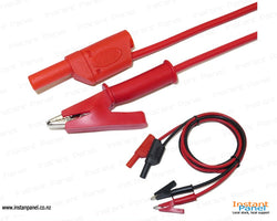 Banana Plug to Alligator Clip Test Lead Cable 15A