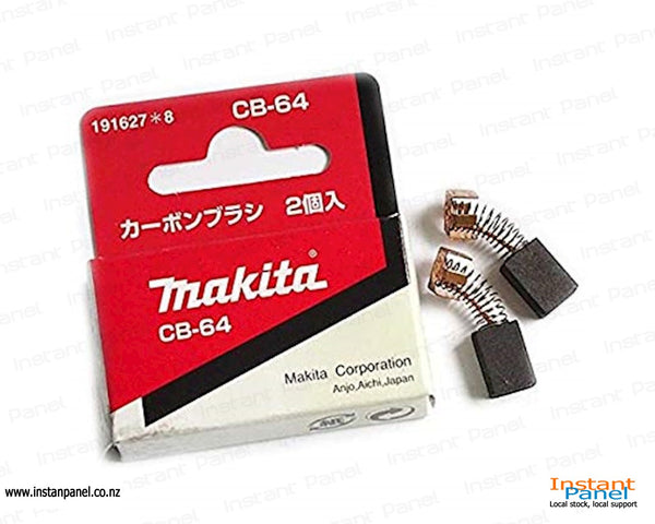 Makita Carbon Brushes CB-64 x 2 pcs Part Number 191627-8