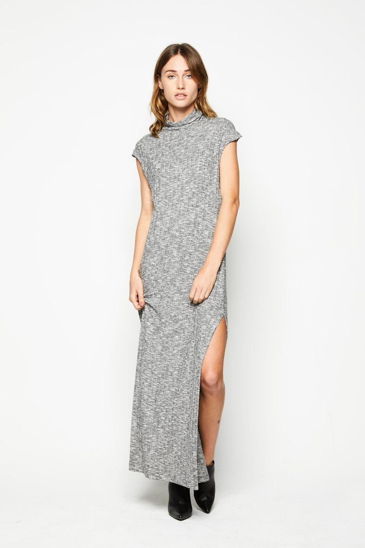 High Neck Dress - Light Marle