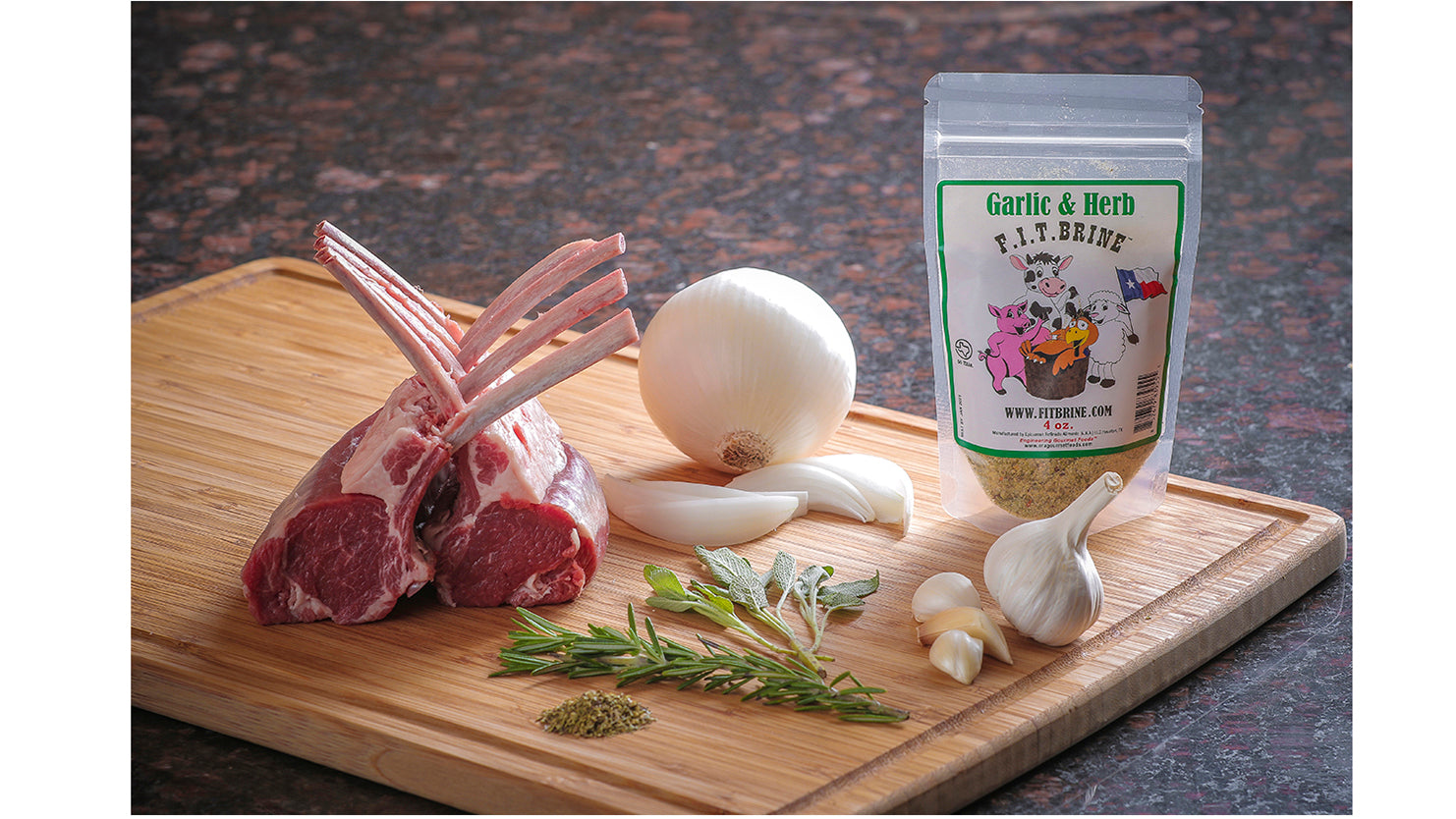 garlic and herb seasoning brine; lamb;