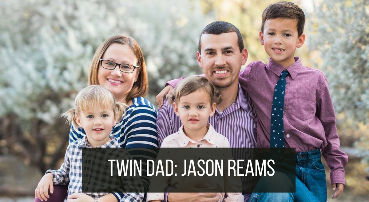 Twin Dad, Jason Reams, on how it is raising a singleton plus twins