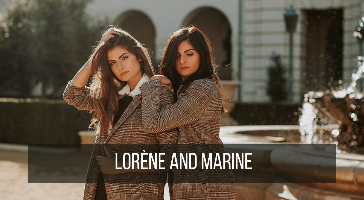 twin sisters Lorène and Marine