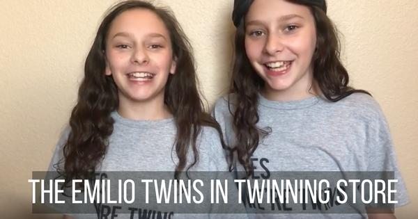 youtubers emilio twins wearing twinning store t-shirts
