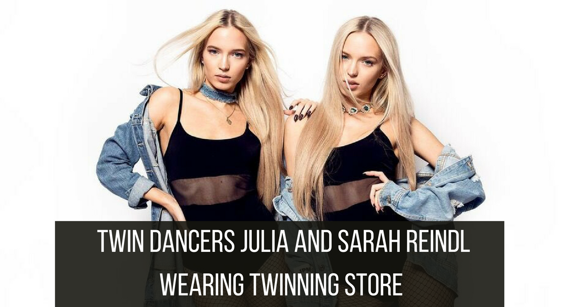 Twinfluencers Julia and Sarah Reindl in Twinning Store Crop Tops