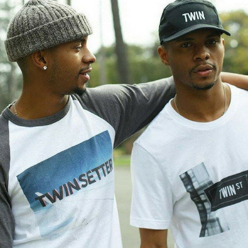 official harris twins in twin t-shirts from twinning store