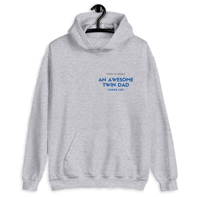This is What an Awesome Twin Dad Looks Like Hoodie (Grey)
