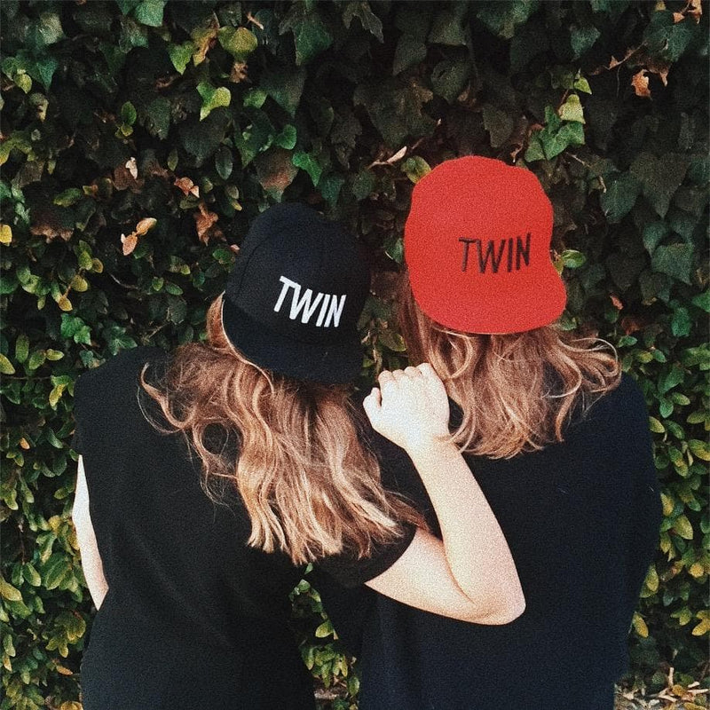 Twin Snapback Hat (Red)