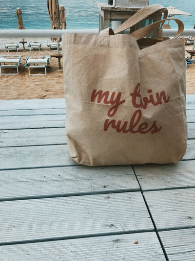 My Twin Rules Tote Bag - Fashion for twins TWINNING STORE