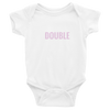 """Double"" Baby Onesie (White)"