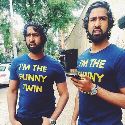 I'M THE FUNNY MENS TWIN T-SHIRT (NAVY) - Fashion for twins TWINNING STORE