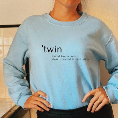 Twin Definition Sweatshirt (Light Blue)