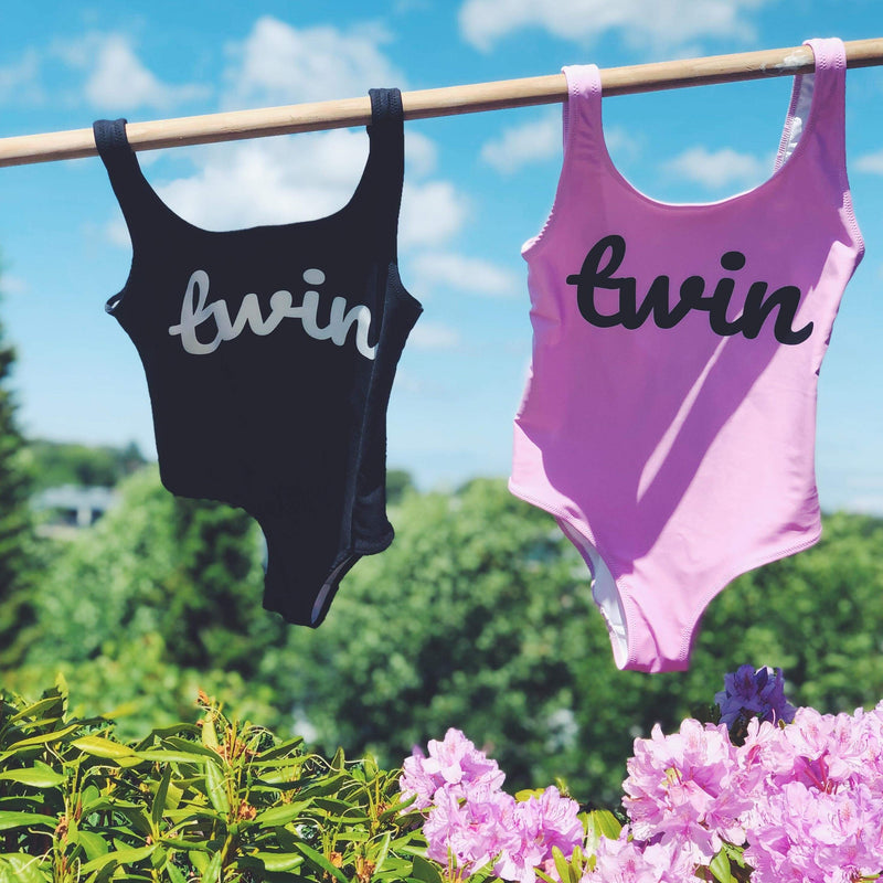 Twin One-Piece Swimsuit (Black)