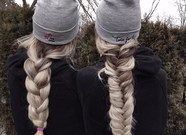 Twin Love Cuffed Beanie