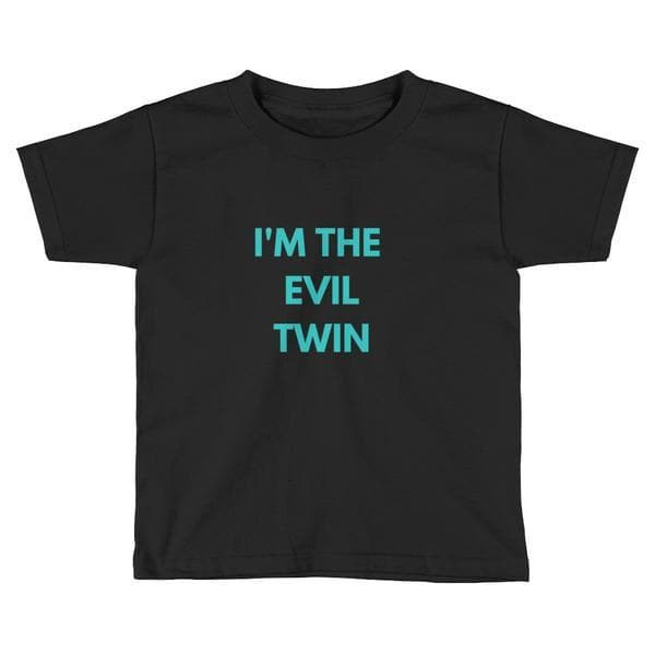 I'M THE EVIL TWIN TODDLER T-SHIRT (NAVY) - Fashion for twins TWINNING STORE