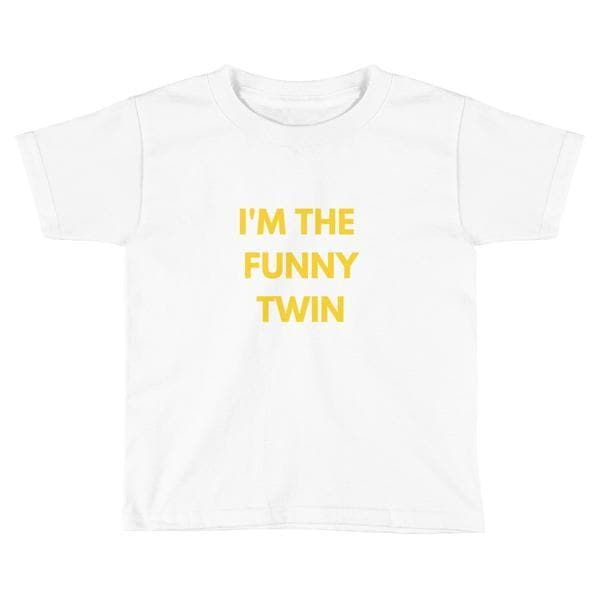 I'm The Funny Twin Toddler T-shirt (White) - Fashion for twins TWINNING STORE