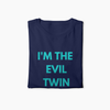 I'm The Evil Twin Unisex T-shirt (Navy) - Fashion for twins TWINNING STORE