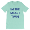 I'm The Smart Twin Mens T-shirt (Mint) - Fashion for twins TWINNING STORE