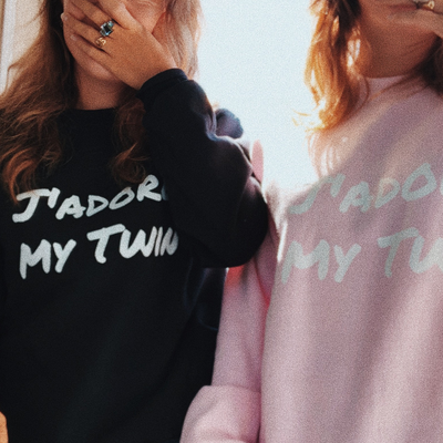 J'Adore My Twin Sweater (BLACK)
