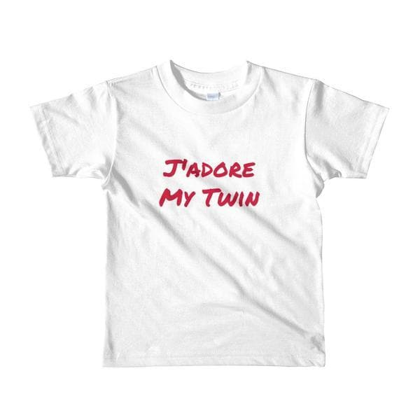 J'adore My Twin Toddler T-shirt (White)