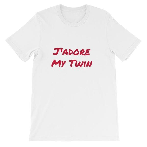 J'adore My Twin T-shirt (White) - Fashion for twins TWINNING STORE