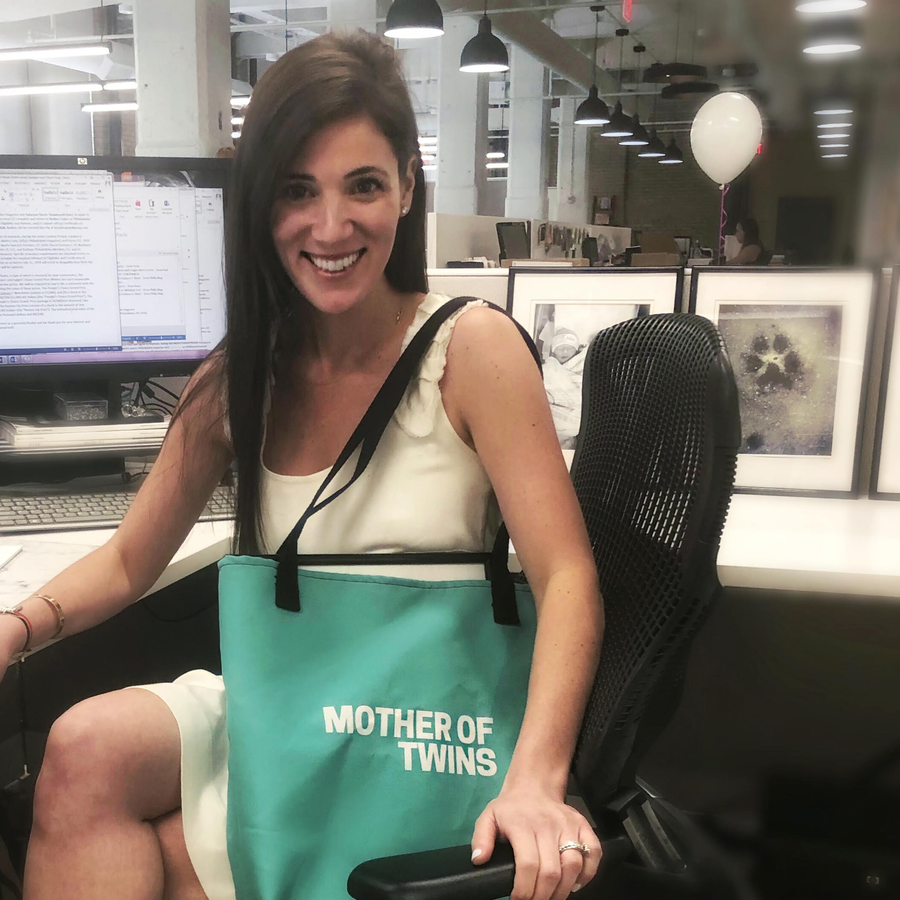 Mother Of Twins Tote Bag (Turquoise)