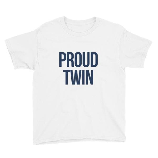 Proud Twin t-shirt in Light Blue for twin girls and twin boys from Twinning Store