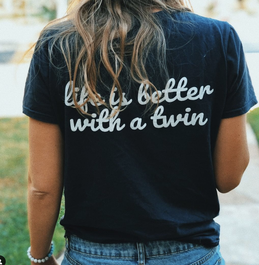 Life Is Better With A Twin T-shirt (Navy)
