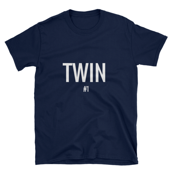 TWIN #1 PRINT T-SHIRT (NAVY) - Fashion for twins TWINNING STORE