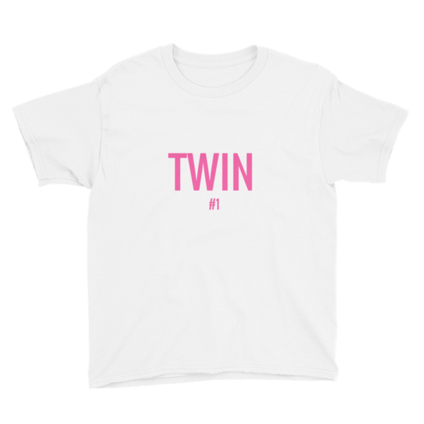 Twin #1 Print Girl T-shirt (White)
