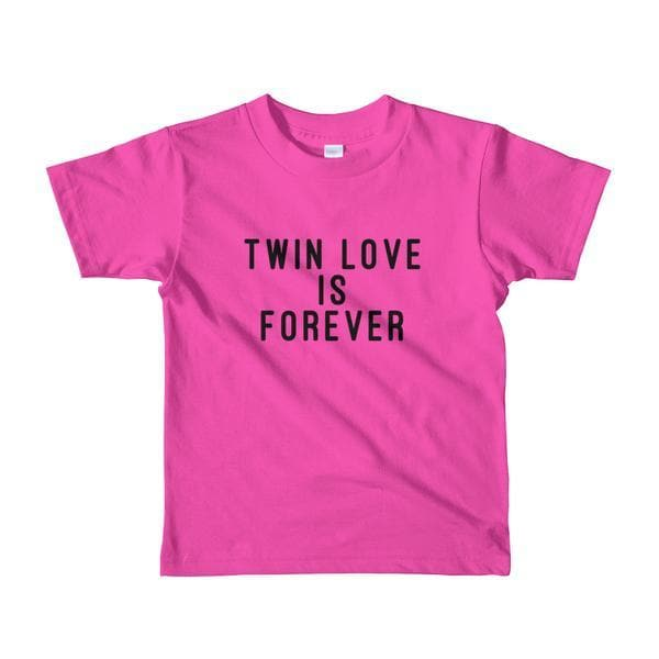 Twin Love Is Forever Toddler T-shirt (Pink) - Fashion for twins TWINNING STORE