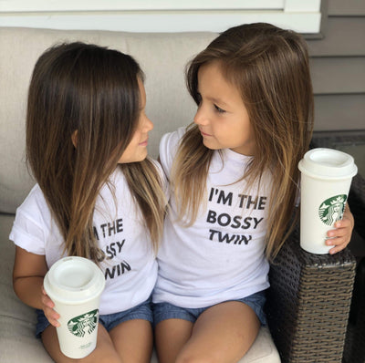 I'm The Bossy Twin Toddler T-shirt (White)