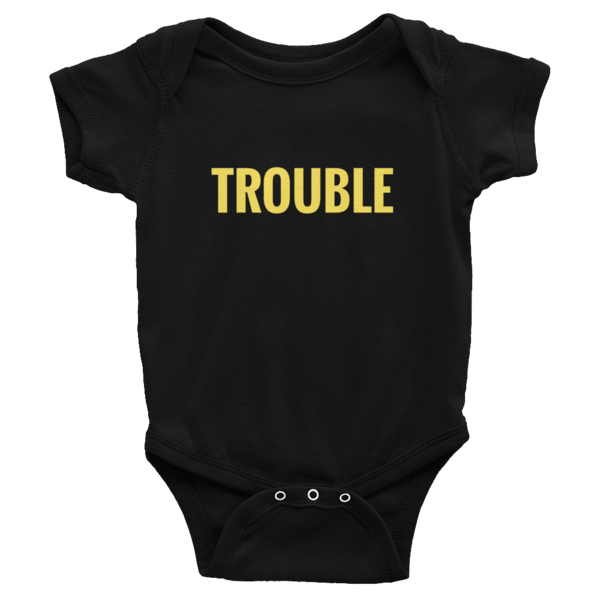 Trouble Baby Onesie (Black)