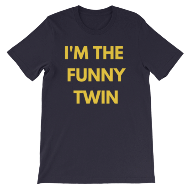 I'm The Funny Twin T-shirt (Navy)