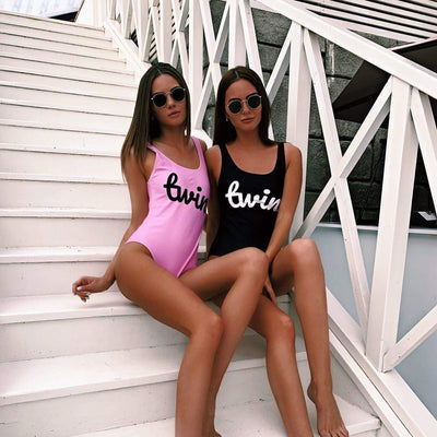 Twin One-Piece Swimsuit (Pink)