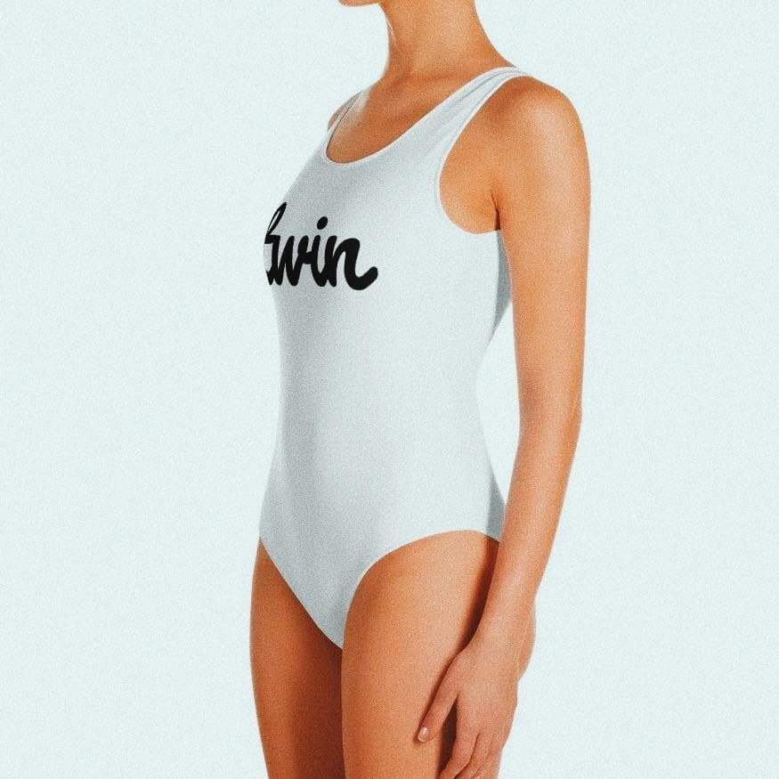 Twin One-Piece Swimsuit (White)