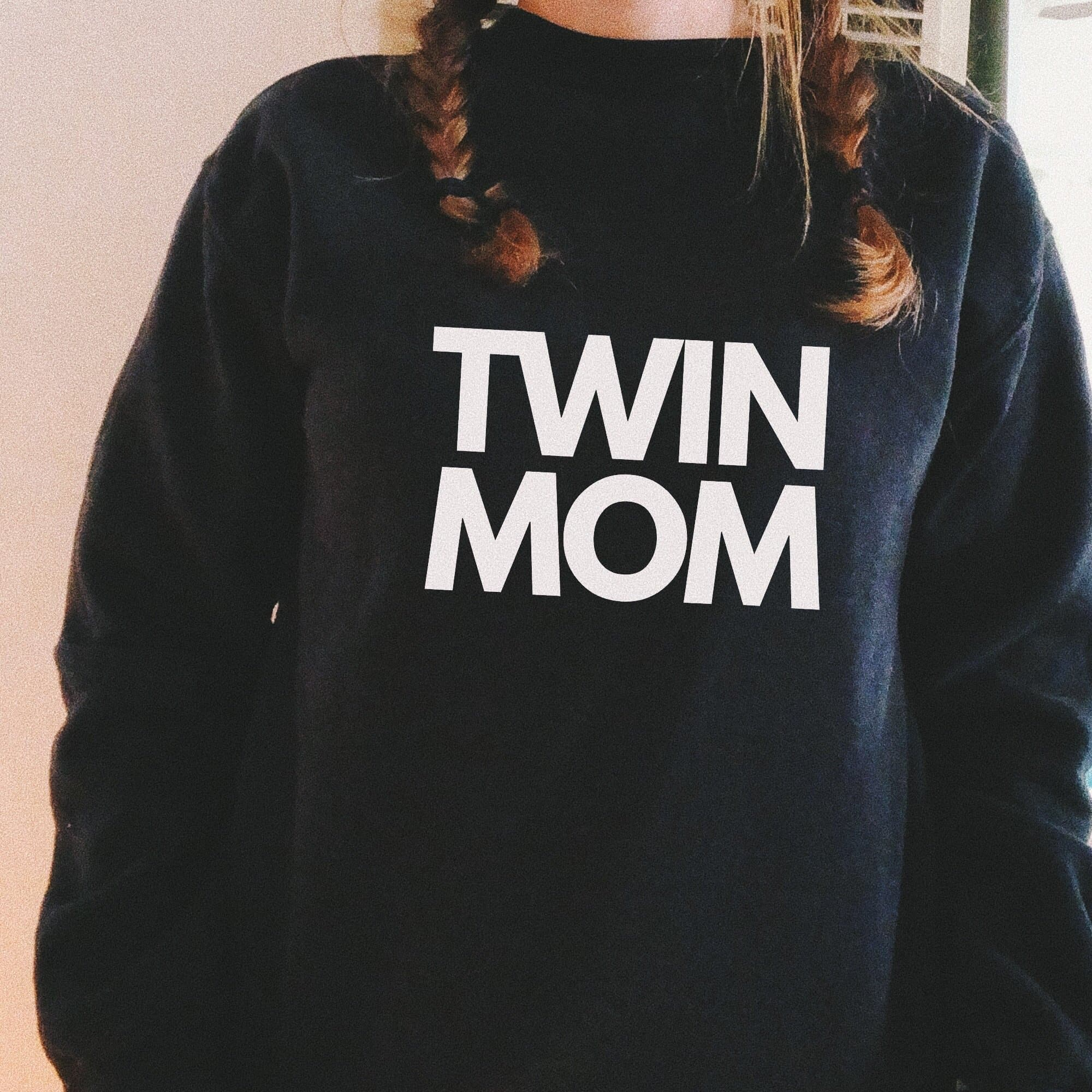 Twin Mom Sweater (Black)