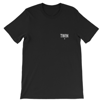 Twin #1 Petite Logo Unisex T-shirt (Black)