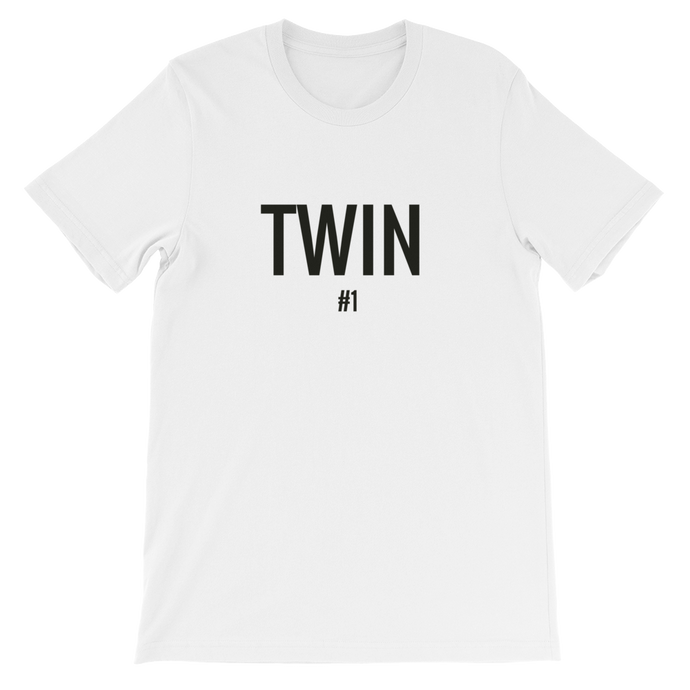 Twin #1 T-shirt for woman in White