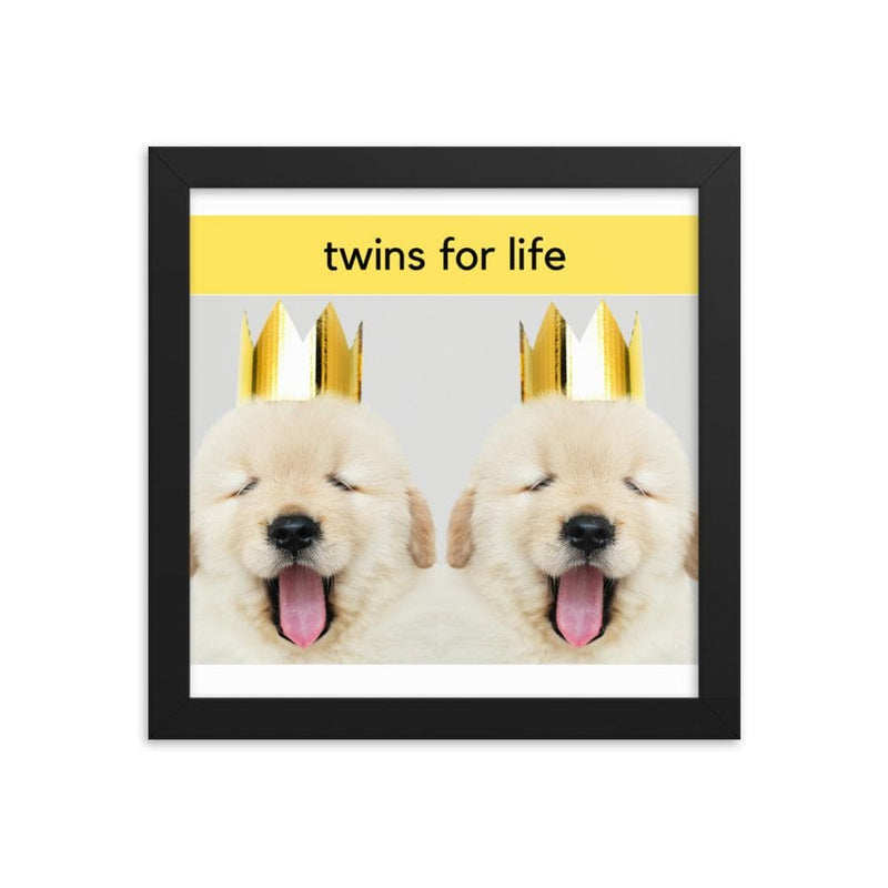 Twins For Life Framed Wall Art