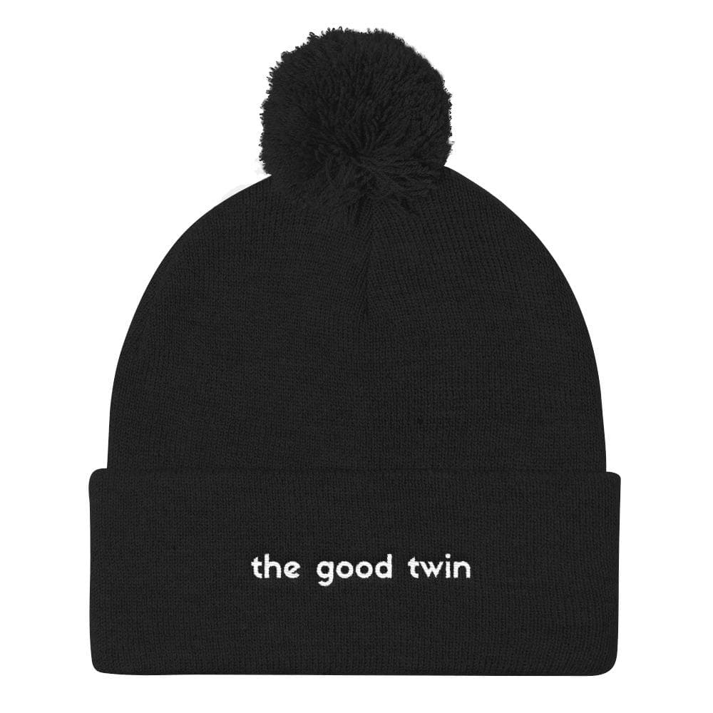 The Good Twin Pom Pom Beanie Hat (Black)
