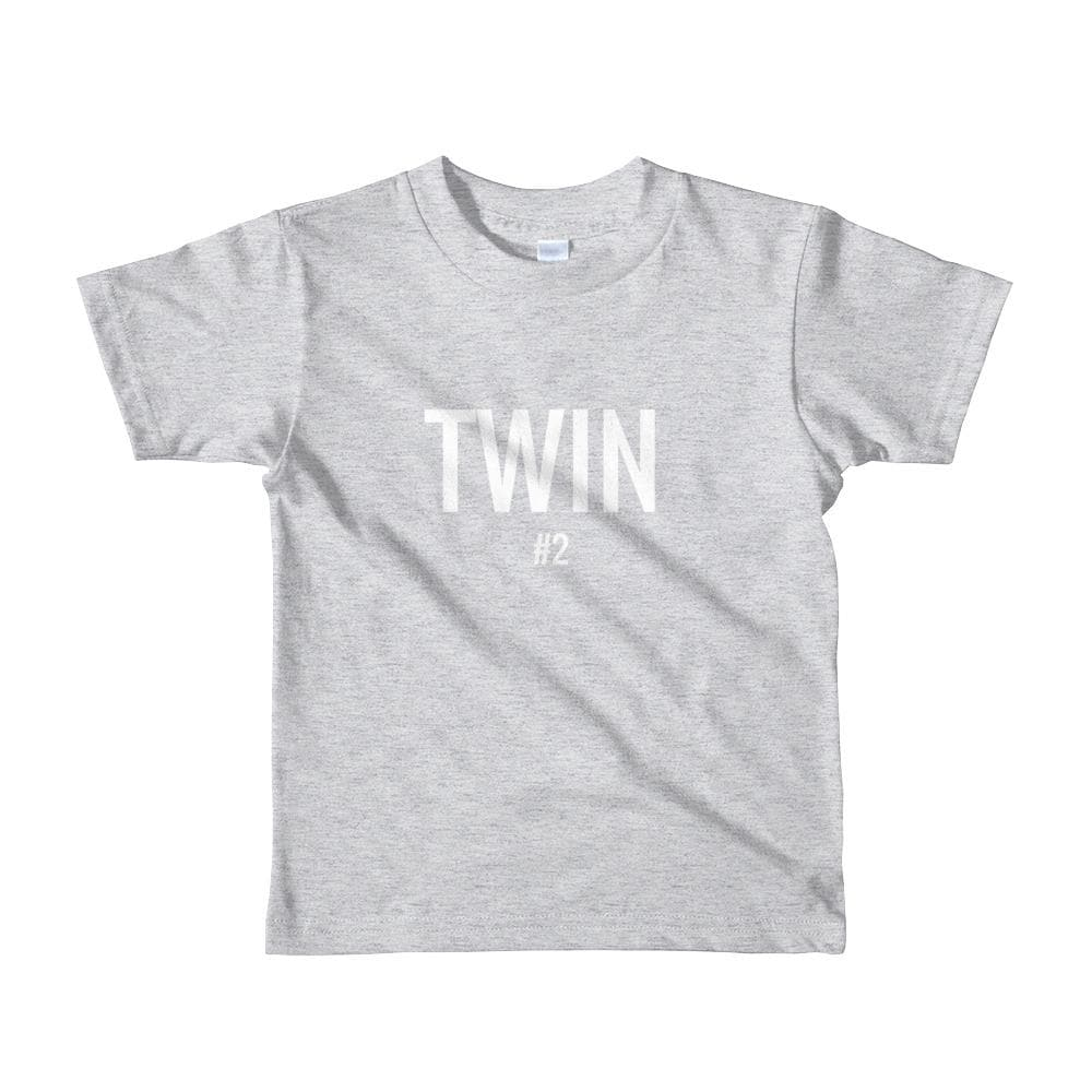 Twin #2 Toddler T-shirt (Grey)