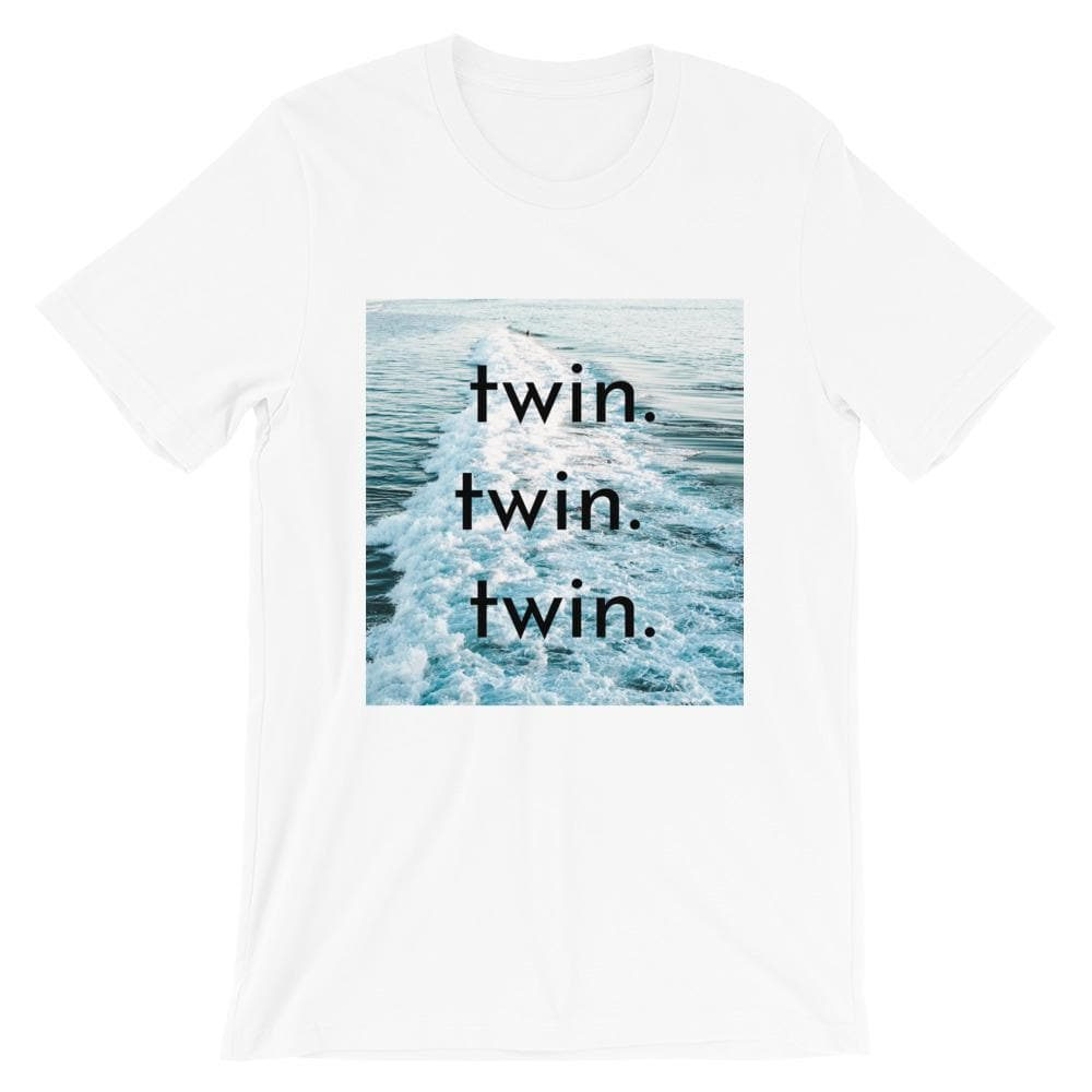 Twin twin twin T-Shirt (White)