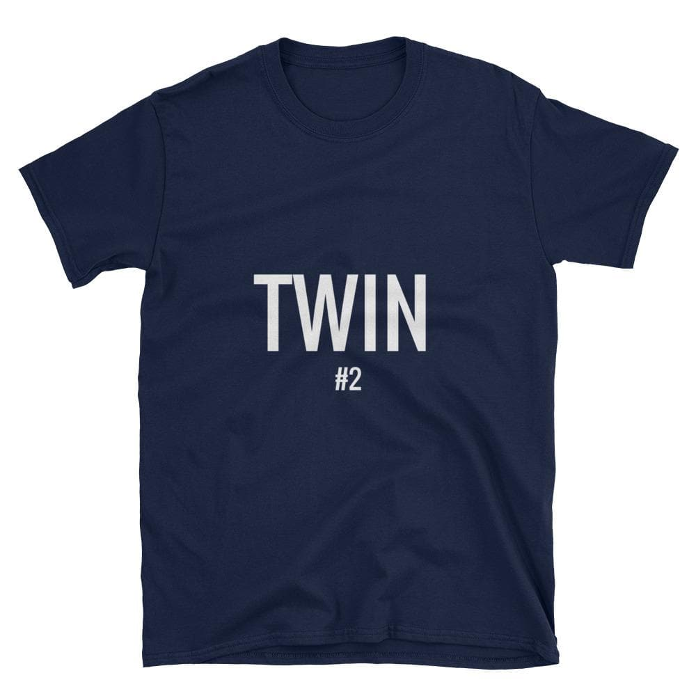 Twin #2 Print T-shirt (Navy)