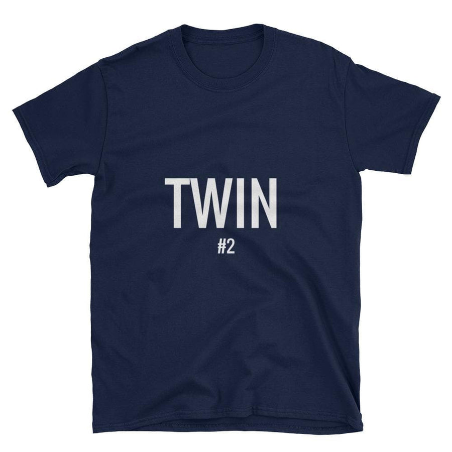 TWIN #2 PRINT T-SHIRT (NAVY) - Fashion for twins TWINNING STORE