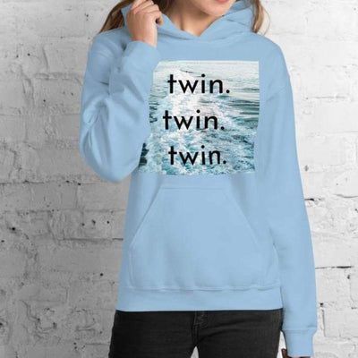 Unisex Twin Hoodie (Light Blue)