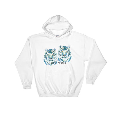 Twin Power Hoodie Sweatshirt (White)
